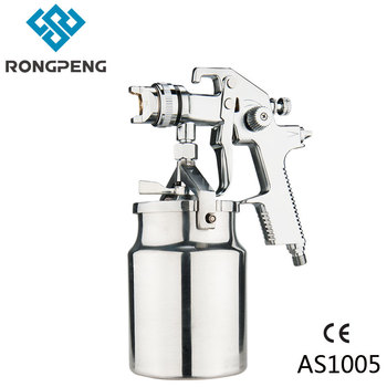 Rongpeng HVLP AS1005 Air Spray gun 1.4mm Suction 1000cc Aluminium Cup Base Coat