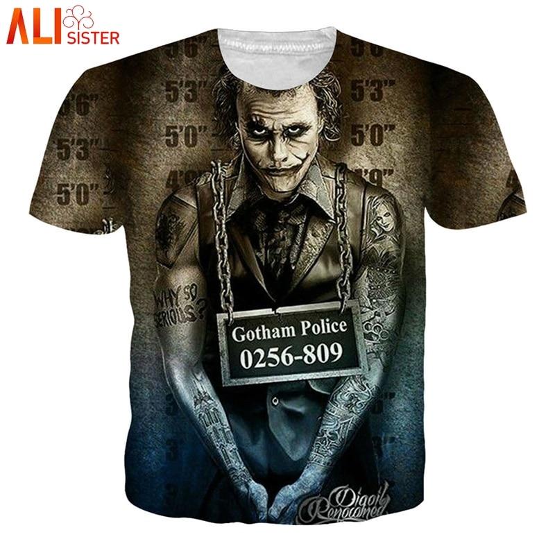 29c31c7ebfc Alisister 3d Skull T Shirt EUR Plus Size Men Women Joker Skeleton Print Tee  Shirt Summer Hip Hop Brand Clothing Camiseta Hombre-in T-Shirts from Women s  ...
