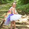 Candy Rainbow Unicorn Girls Bustle Tutu Dress Kids Pony Birthday Party Photo Halloween Costume Children Cosplay