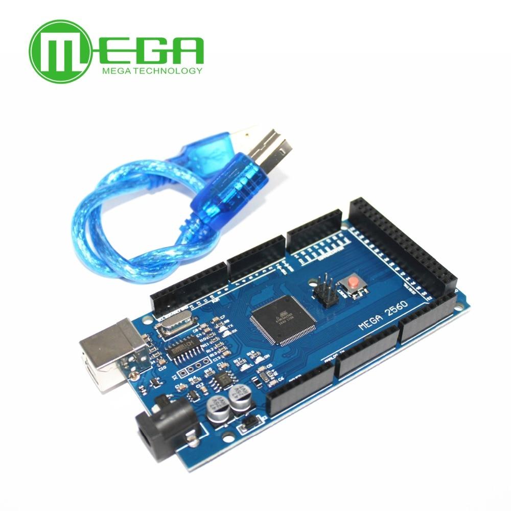 Shiping libre Mega 2560 R3, CH340G, Mega2560 REV3 Conseil ATmega2560-16AU + Câble USB