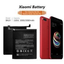 YCDC поле высокое ёмкость 3080 мАч перезаряжаемые Замена Батарея BN31 BN-31 BN 31 для Xiaomi mi 5X красный mi Note 5A Примечание Pro