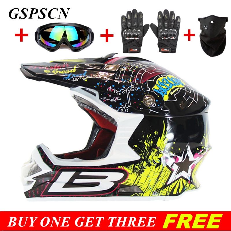 GSPSCN 2017 New Inside Lined Thicker Motocross Helmet Off Road Downhill Motorcycle Motorbike Helmets Approved Road Racing Helmet 2017 new ece certification ls2 motocross motorcycle helmet ff352 full face motorbike helmets made of abs and pc silver decadent