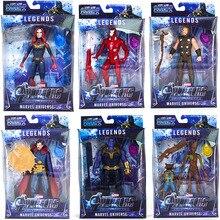 Avengers Endgame Infinity 4 Action Figures Toys for Children Marvel Legends Iron Man Thor Hulk Thanos Captain
