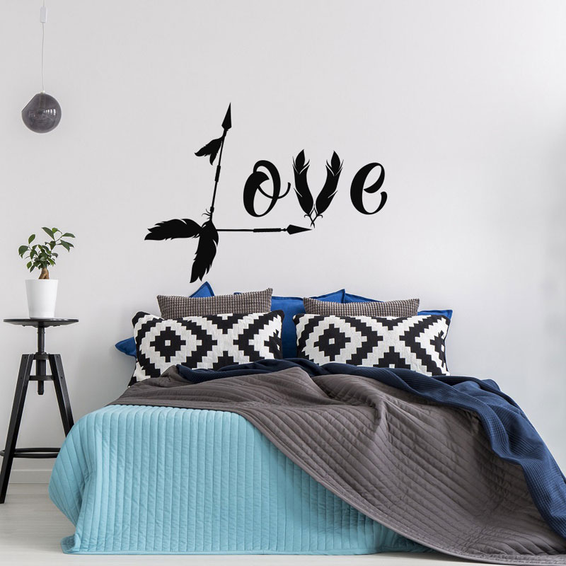 Love Arrow Decal Family Decor Boho Wall Decal Arrow Decor ...