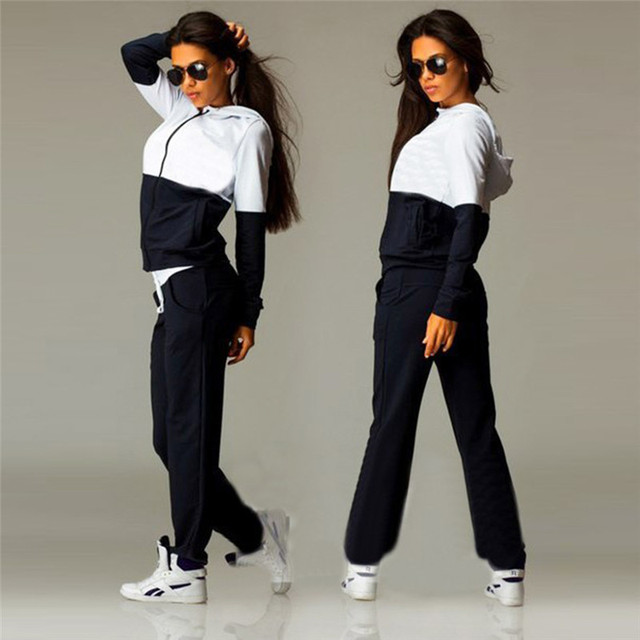 2 Piece Set Women Sportswear Jogging Track Suit Women Sport Set Two Piece Set 1