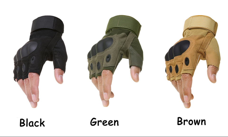 HTB1Gy2xboT1gK0jSZFhq6yAtVXay - Motorcycle Fingerless Gloves Hard Knuckle Motorbike Motocross Luva Biker Racing Ridding Cycling Half Finger Moto Protective Men