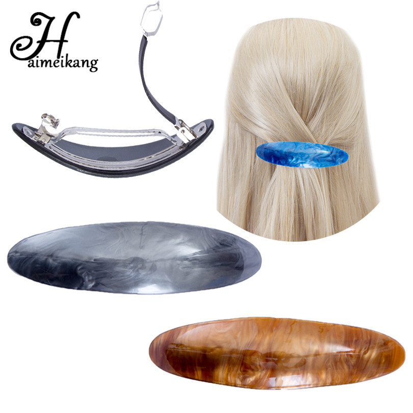 Haimeikang Oval   Headwear   Vintage Hairpins Barrettes Large Hair Clip Ponytail Holder Fashion Hair Accessories for Women Girls