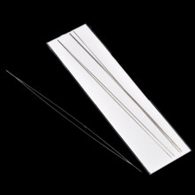 10Pcs Steel Beading Needles Threading String Cord Sewing Tool Silver Tone 125mm