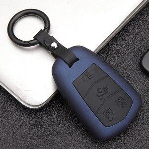 Image 1 - Силиконовый чехол для автомобильного ключа из углеродного волокна, чехол для Cadillac Escalade CTS DTS XTS ATS ATS L XLS SRX 2015 28T CTS V XT5 CT6 ESV