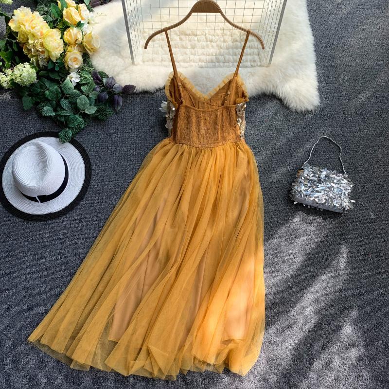 V-Neck Sequins Backless Sleeveless A-line Dress 15