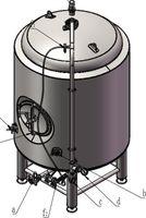 Нержавеющая сталь 3 BBL/4 BBL обмотанный Брит пивной бак Unitank w/Все клапаны и Hardwares яркий пивной резервуар