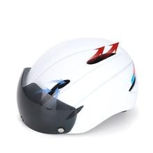 Windproof Lenses Bicycle Helmet EPS MTB Bike Integrally-molded Cycling  Women Men Outdoor Sport Riding Safty