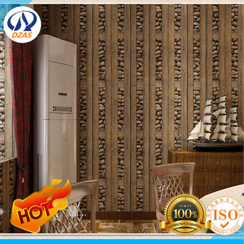 Retro country wood Chinese wallpaper wallpaper 3D stone antique bar TV background ZMH-119 wall paper фото