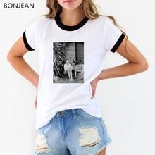 Vintage retro t shirt women summer Elegant Audrey Hepburn Black and White Art print tee femme korean clothes tops