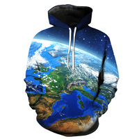 Cool Earth Harajuku Casual Clothes Men/Women Hip Hop Hooded Print 3D Sweatshirt Character Hoodie Tracksuits Plus S 6XL R1625