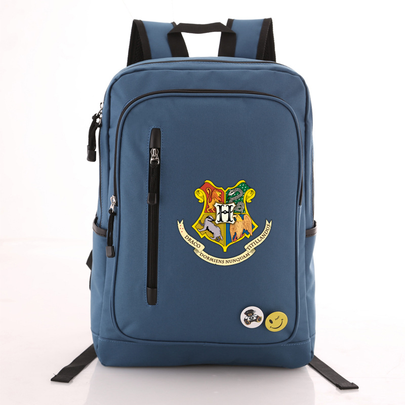 High Quality 2018 New Harry Potter Hogwarts Printing Backpack Unisex School Backpack Canvas School Bags Men Laptop Backpack new pattern hogg watts magic school school badge quartz pocket watch senior high school student harry potter gift table ds281