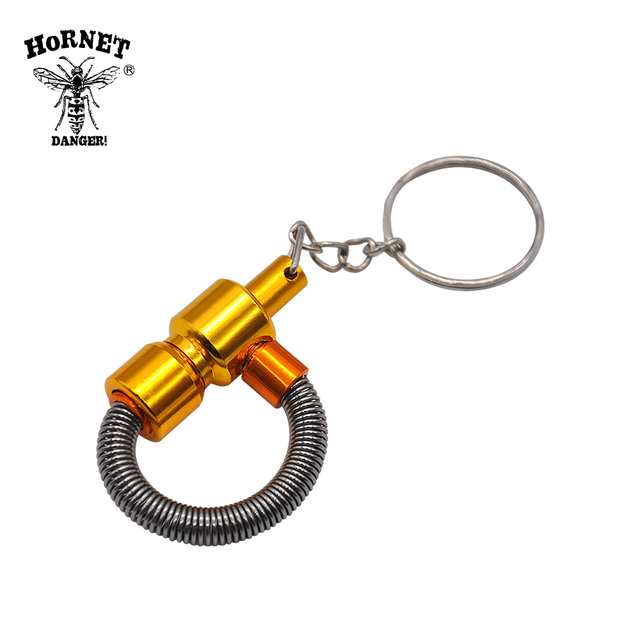 Metal Spring Smoking Pipe Metal Portable Tobacco Pipe with Key Chain Cigarette Pipe Mini Weed Pipe Smoking Accessories