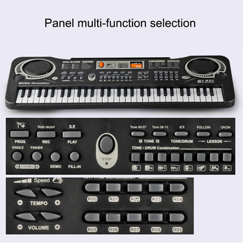 Electronic Organ for Kids Keyboard 61 Keys Digital Electronic Piano Keyboard Electric Piano with Charger Microphone electronic organ 61 keys electronic portable silicone flexible hand roll up piano built in speaker midi out keyboard organ