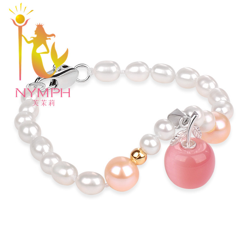 NYMPH Pearl Bracelet Pearl jewelry Natural freshwater Pearl Bracelet For Women Fine jewelry NYS100