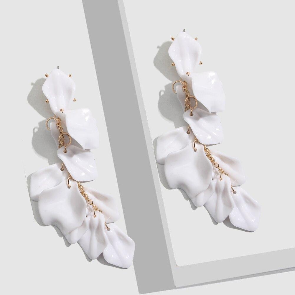 Flatfoosie Fashion Acrylic Resin Drop Earrings For Women Vintage Geometric Long Dangle Statement Earrings Wedding Party Jewelry 27