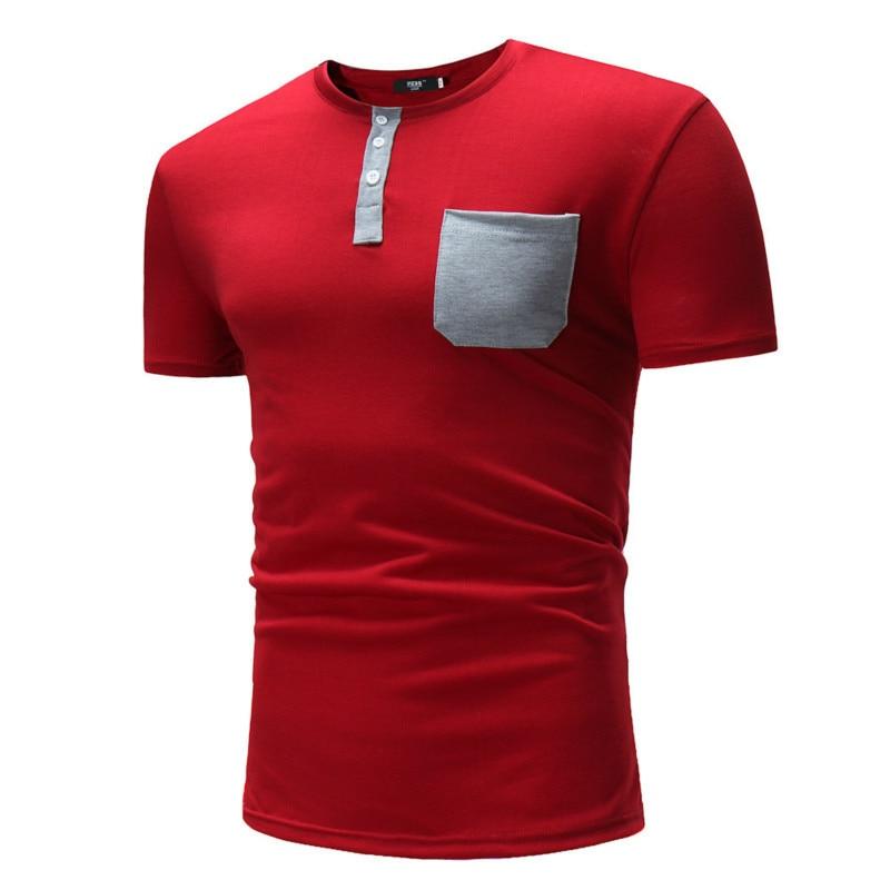 3 Colors Mens Summer Fashion tshirts Slim T-shirt Casual Short Sleeve Tee Shirt clothing brand Size M-2XL