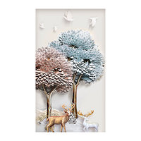5D DIY Diamond Painting CrossStitch Abstract Modern Vogue Tree Deer Embroidery Decorative Handmade Needlework Kit For