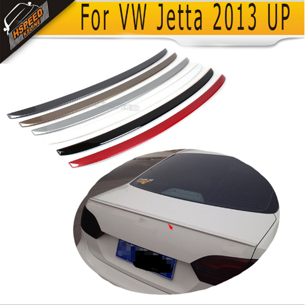 Rear Trunk Lip Spoiler Boot Wing For VW jetta 2013UP red grey black white silver beige ABS pu rear wing spoiler for audi 2010 2011 2012 auto car boot lip wing spoiler unpainted grey primer