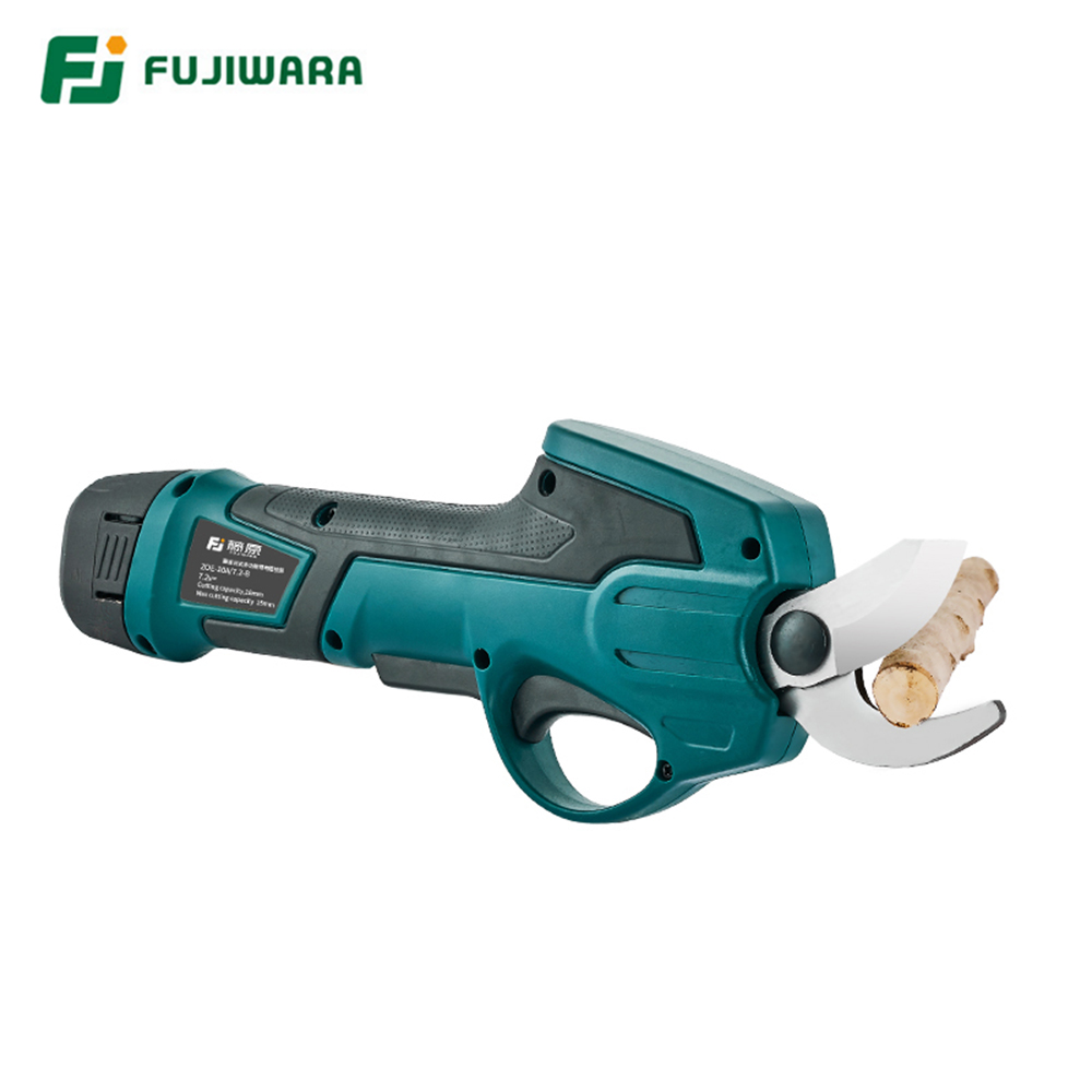 FUJIWARA 0-25mm Electric Garden Scissors for Pruning Stems and Branches with 7.2V Lithium Battery 2