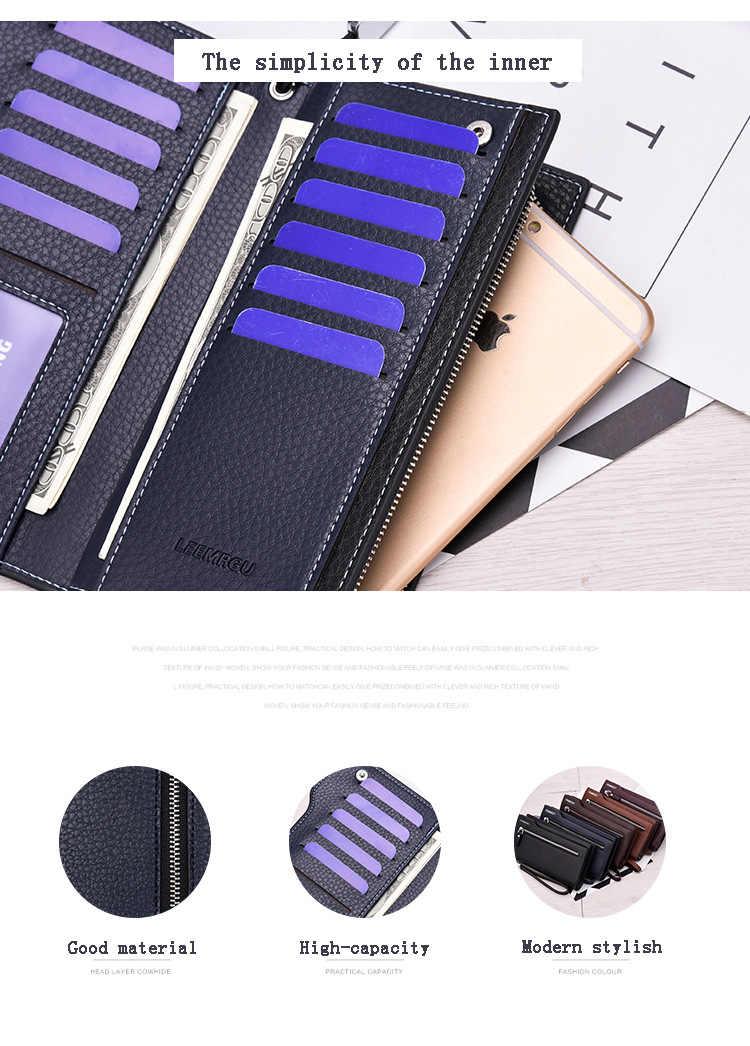 Cartera de cuero Hengsheng para hombre carteras cortas para mujer monedero y bolso de mano con cuero Pu de alta calidad para hombres y mujeres carteras largas