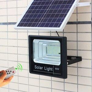 Image 5 - LED 태양 조명 야외 투광 조명등 태양 전원 25W 40W 60W 100W 200W BSOD 스포트라이트 정원 거리 차고에 대한 백색 조명