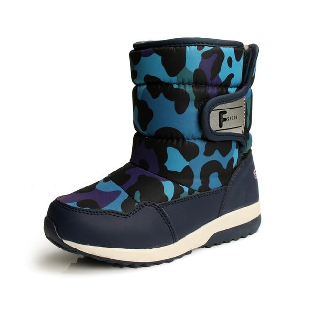 super popular 31e59 c651f € 35.71 |Chico S estrella ~ zapatos de los niños para congelar frío  invierno botas de agua para bebé niños y niñas camuflaje botas largas de  felpa ...