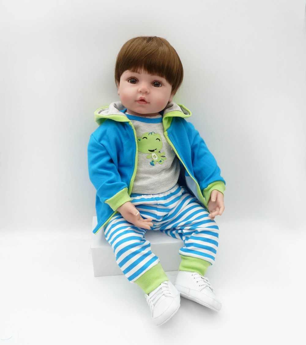 Кукла-реборн для малышей 47 см Новая для ручной работы силиконовая кукла reborn baby Lifelike Очаровательная кукла Bonecas для мальчиков и девочек, силиконовая кукла menol lol