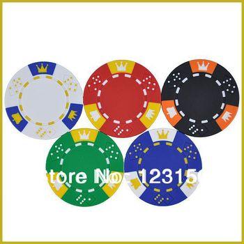 PK-5001 50 sztuk paczka glina 14g żetony do pokera w metalowej pięć piękne kolory tanie i dobre opinie Gliny