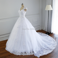 Plus Size Wedding Dress With Sleeves Custom Made Bride Vestido De Noiva 2014 A Line Open