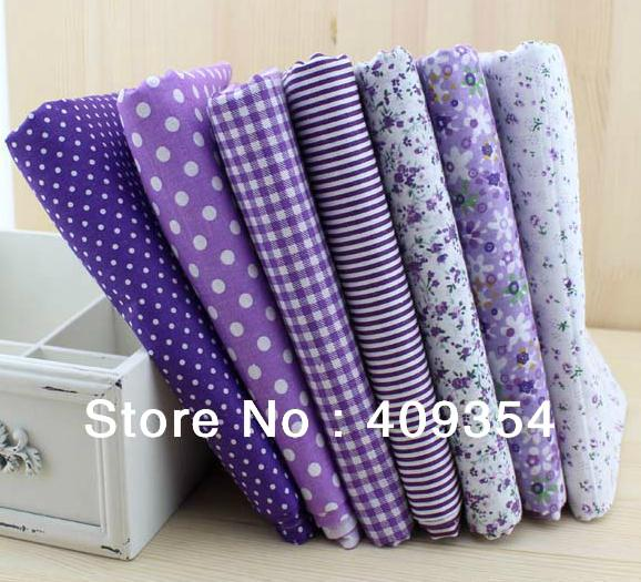 FREE SHIPPING 7pieces 50cm*50cm purple series cotton fabric fat quarter bundle patchwork cotton quilting fabric Tilda W3A1-1 cut piece cloth online
