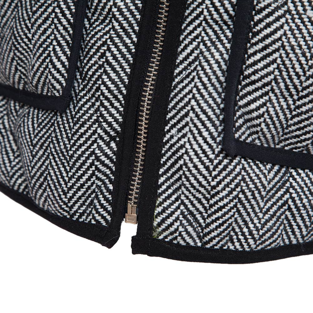 VESTLINDA Vest Women Winter Casual Jacket Vest Coat Veste Femme Striped Hooded Waistcoat Fashion Zipper Short Vest Plus Size 13