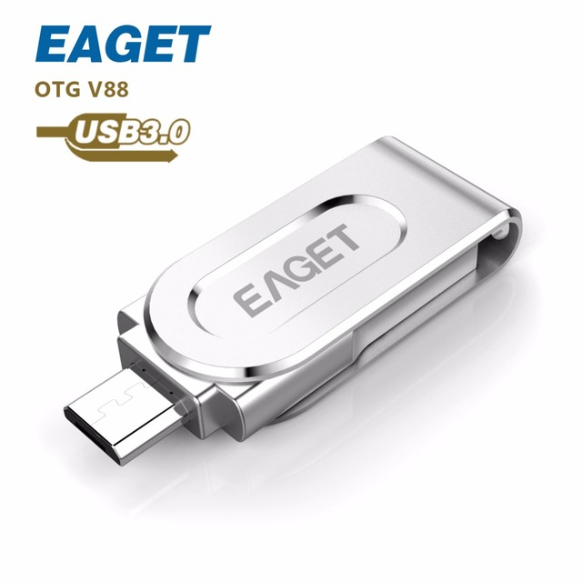 EAGET V88 OTG USB 3.0 usb flash drive16GB 32GB 64GB pen drive external storage USB stick Android Tablet cle usb fantaisie gift