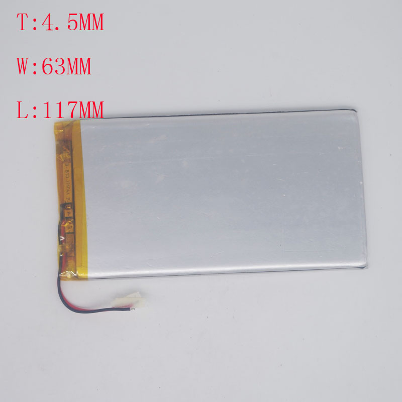 <font><b>3.7</b></font> <font><b>V</b></font> Polymer Lithium Battery 4563117/4060115 Mobile Power Tablet DIY <font><b>3000mAh</b></font> image