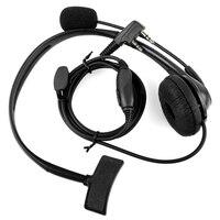 kenwood רדיו 2-פין PTT מיקרופון אוזניות אפרכסת אוזניות עבור רדיו Kenwood Baofeng Uv5R 888S (4)