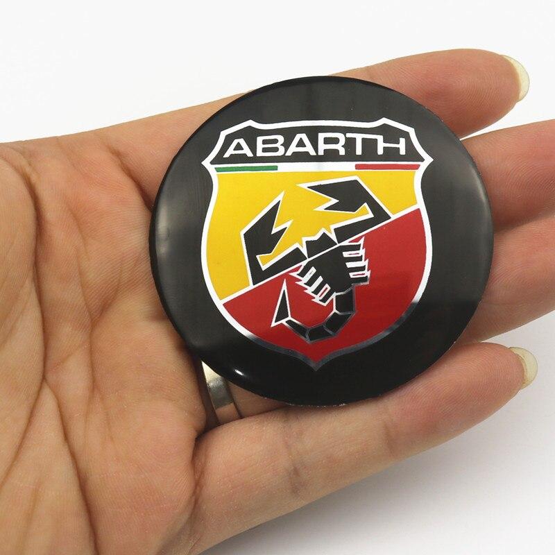 4 шт., 56,5 мм, для abarth, логотип, алюминиевая Автомобильная эмблема, для центра колеса, наклейка, обод, значок для fiat punto abarth 500, stilo ducato