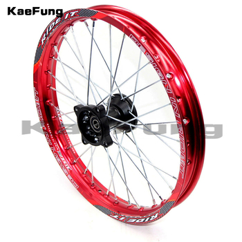 "red 12mm or 15mm Front 1.60-17"" inch aluminium Alloy Wheel Rim For 160cc 150CC Dirt Pit bike 17 inch wheel"