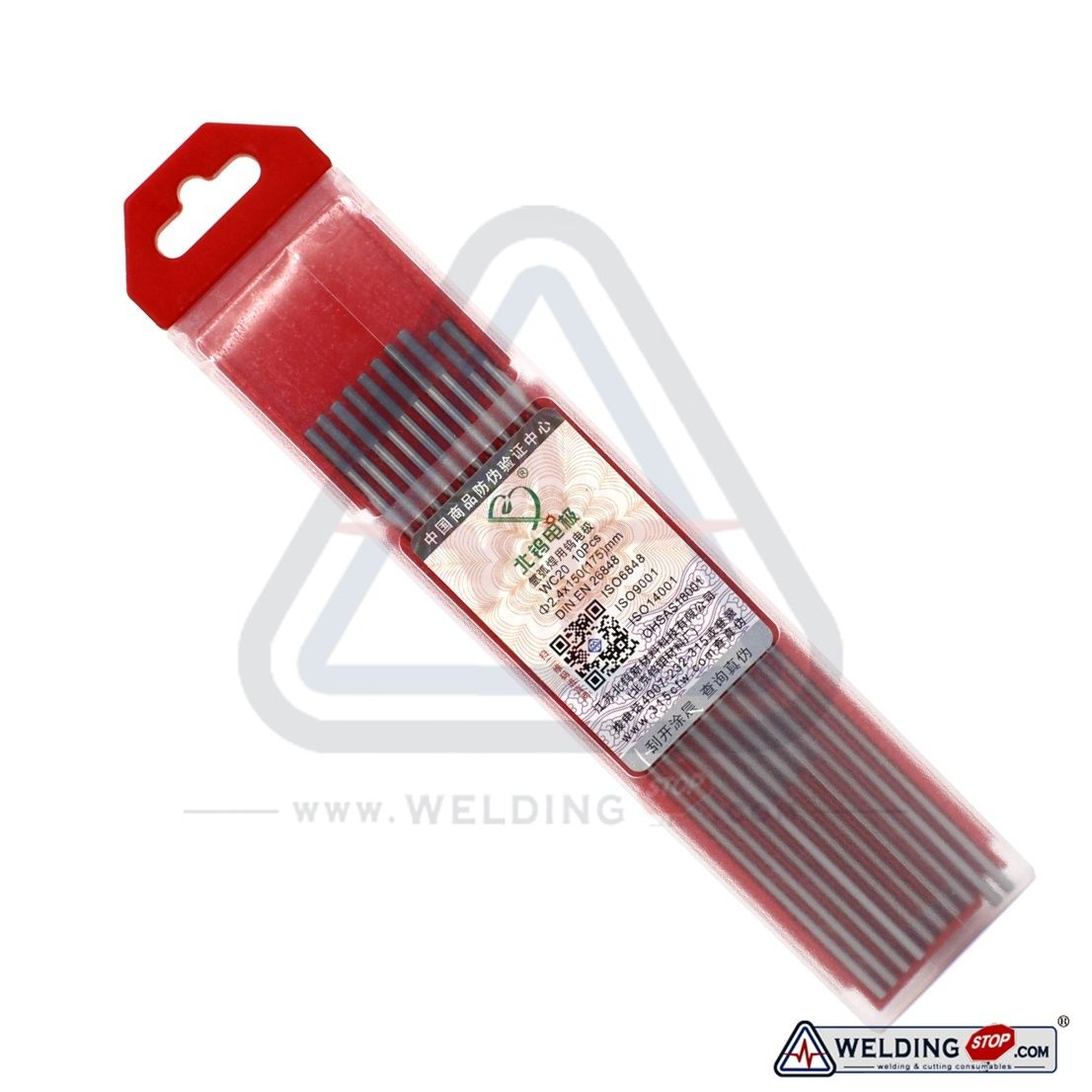 """2.4X150mm 3//32/""""X6/"""" Ceriated Tungsten Electrode Grey for TIG Weld WC20 Qty-10"""