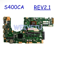 S400CA 4GB RAM 2117 / I3 /I5 I7 CPU Motherboard REV2.1 For ASUS S400C S500C S400CA S500CA Laptop Mainboard Tested Working