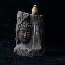 Incense Burner Buddha Statue Home Decor With 20 pcs Backflow