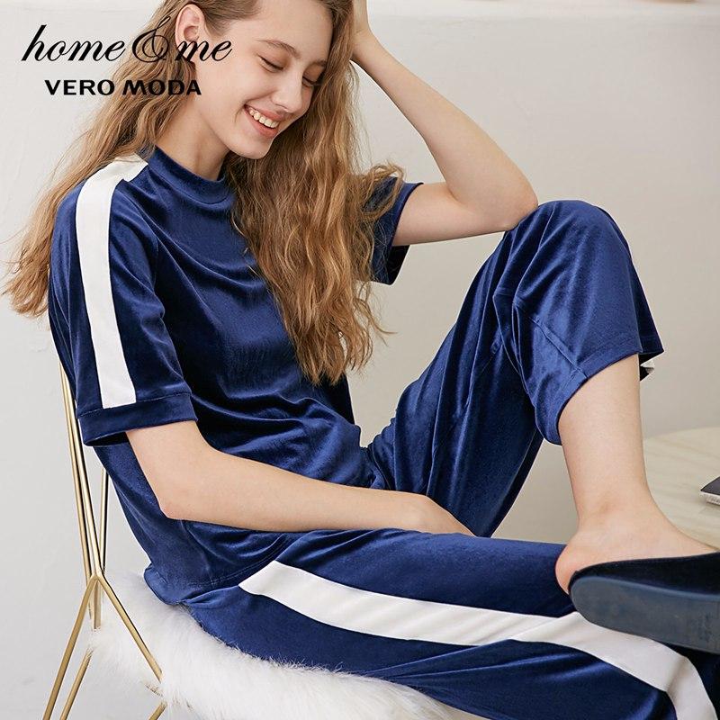 Vero Moda New Striped Leisure Wear Pajamas Sets  | 3183TS501