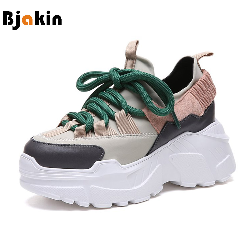 Bjakin Height Increasing Women Running Shoes 2018 New Style Athletic  Sneakers Females Comfortable Walking Shoes Zapatillas 649948695f46