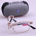 Gafas de lectura Plegable Gafas De Lectura Hombres Mujeres Pequeño Plegable de Anteojos lentes de + 1.0, + 1.5, + 2.0, + 2.5, + 3.0, + 3.5, + 4.0
