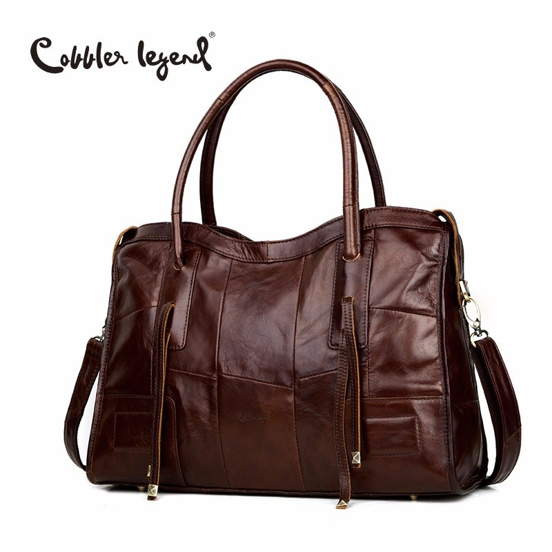 Cobbler Legend Genuine Leather Bag Casual Women Handbag Cowhide Crossbody Womens Travel Bags Laptop Briefcase For