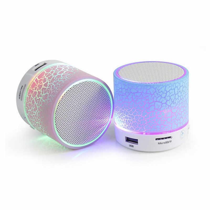 Dropshipping Automotive Auto Radio 1 PCS DC 5 V 500 mAh 3 W A9 LED Senza Fili di Bluetooth Subwoofer Speaker Box USB Musica Stereo del Suono