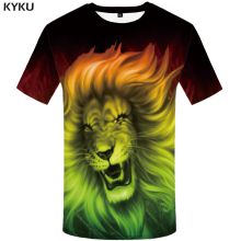 KYKU Brand Lion Shirt 3d T Men 2018 Animal Tshirt Streetwear Rock T-shirt Mens Tee Shirts Summer Clothing Fashion New